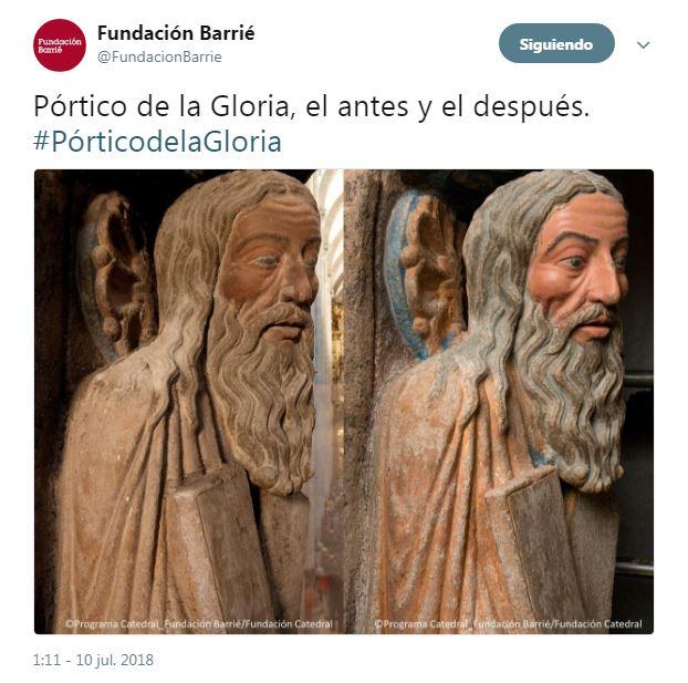 Restauración del Pórtico de la Gloria Fundación Barrié