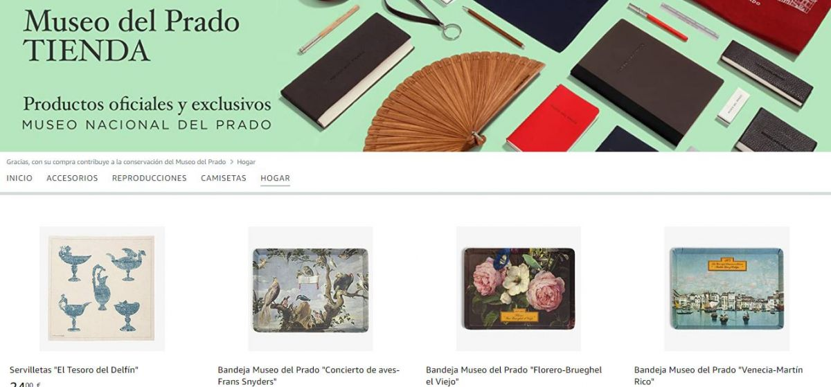 Tienda online del Museo del Prado en Amazon