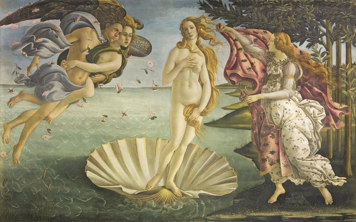 Nacimiento de Venus Botticelli Uffizi