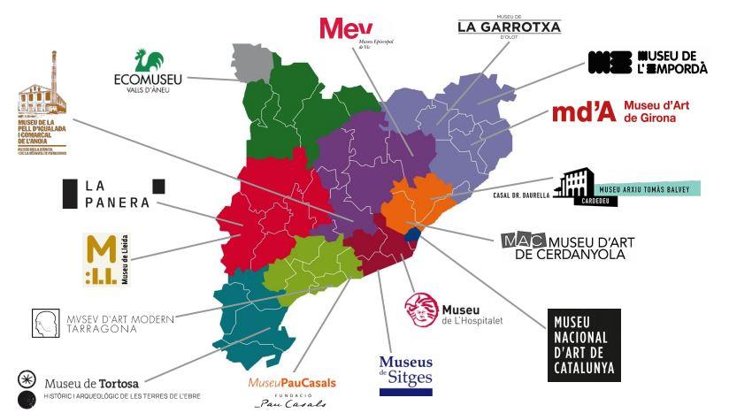 Mapa de museos participantes en Recuperart-19