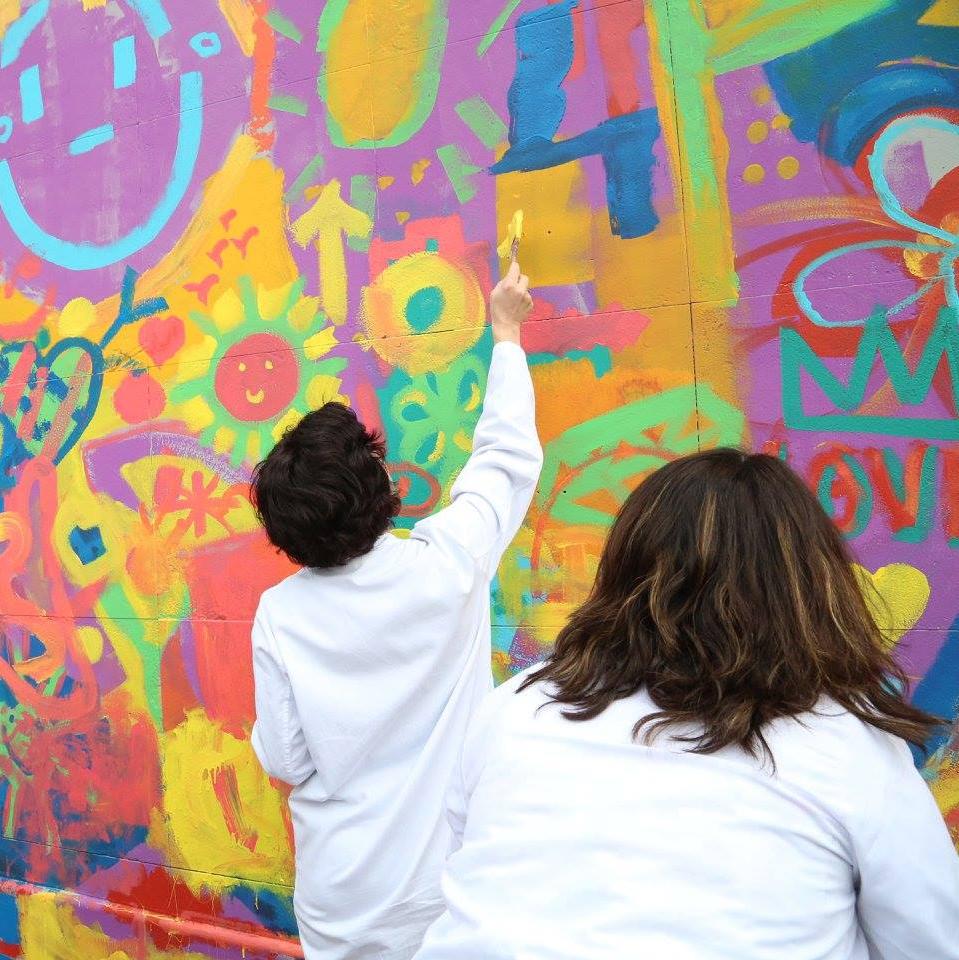 Acción artística en el Hospital Vall d'Hebron de Barcelona