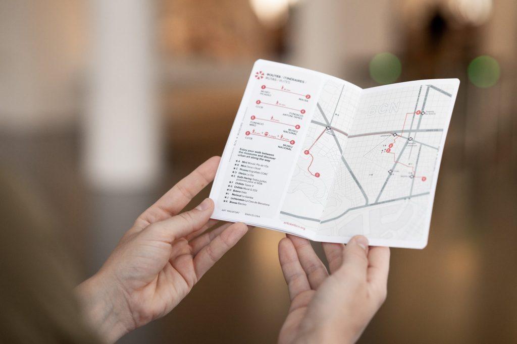 Mapa del pasaporte Articket Bcn