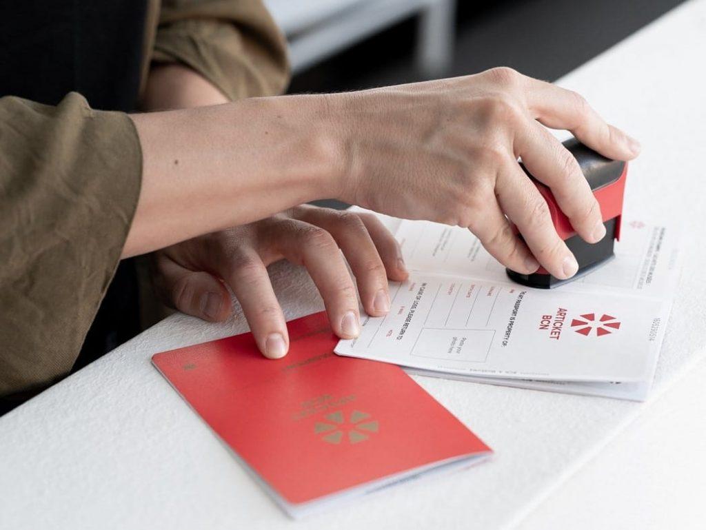 Sellado del pasaporte Articket Bcn