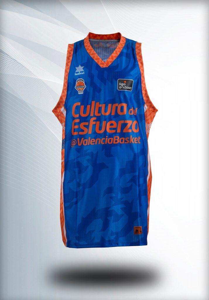 Segunda camiseta del Valencia Basket Masculino Cerámica Nolla