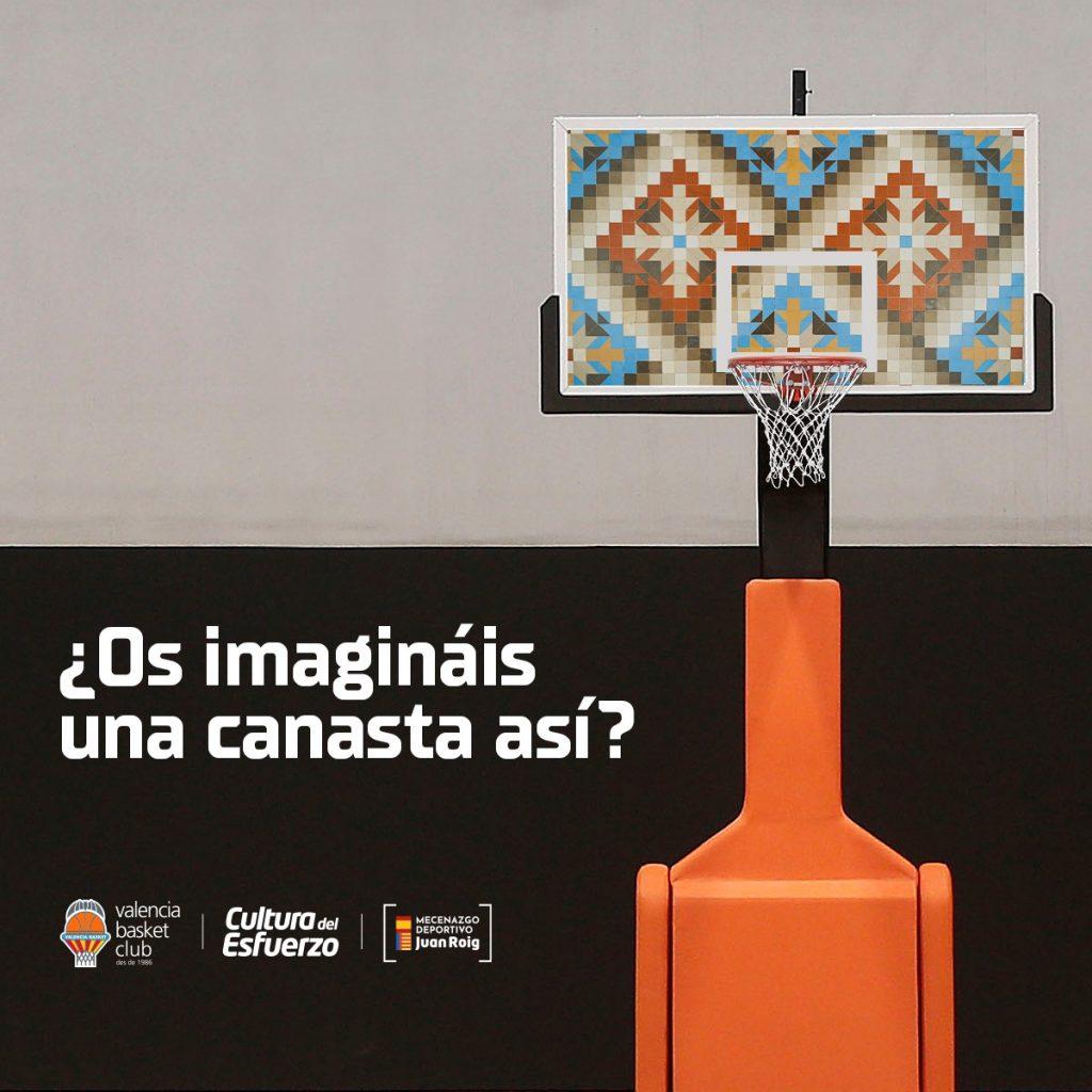 Canasta del Valencia Basket Cerámica Nolla
