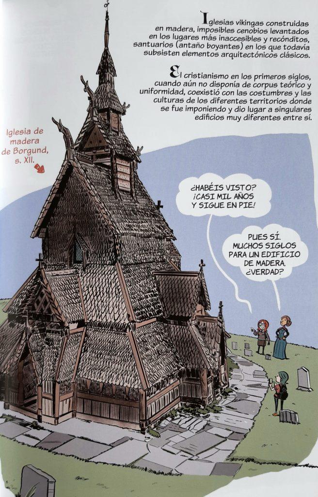 Viñeta de Historia del Arte en Cómic: La Edad Media de Pedro Cifuentes