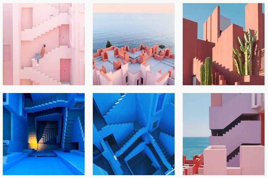 Muralla Roja Ricardo Bofill Calpe arquitectura Instagram