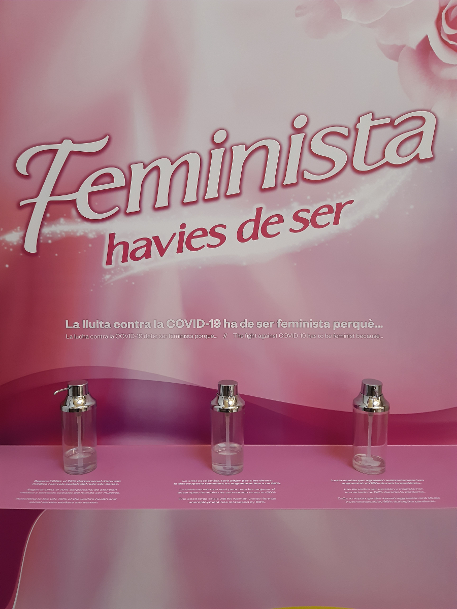 Exposición Feminista havies de ser gel hidroalcohólico