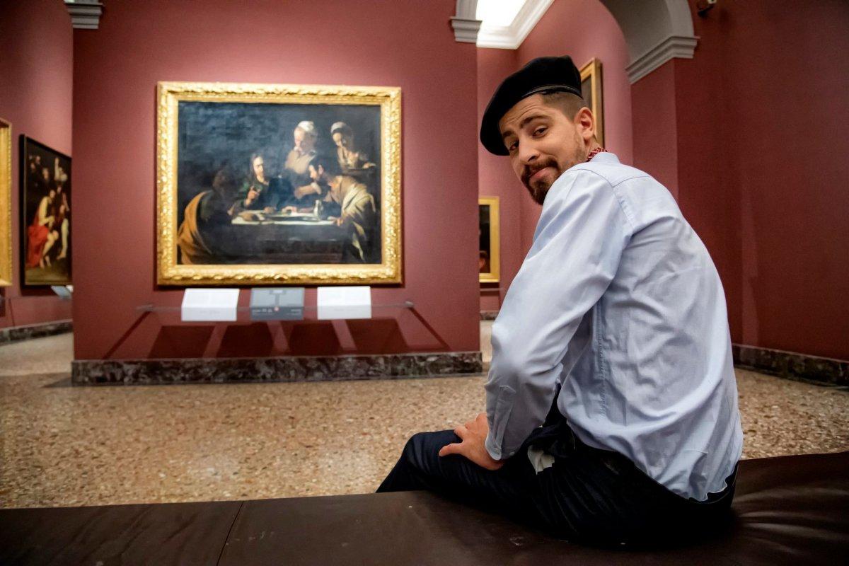 Peter Sagan Caravaggio Pinacoteca Brera de Milán