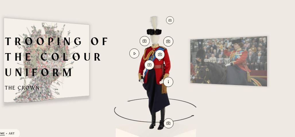 Vestido de uniforme de Isabel II The Crown