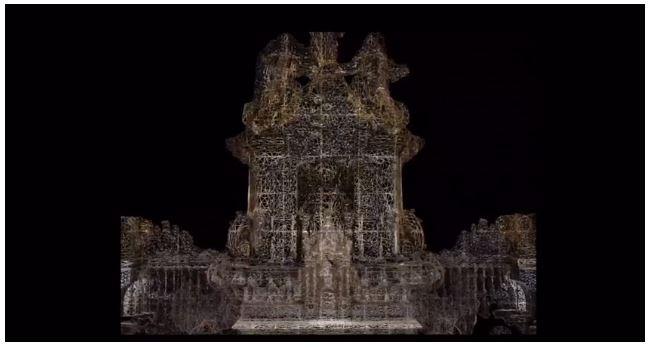 Capilla Mayor Catedral de Santiago Modelado 3D