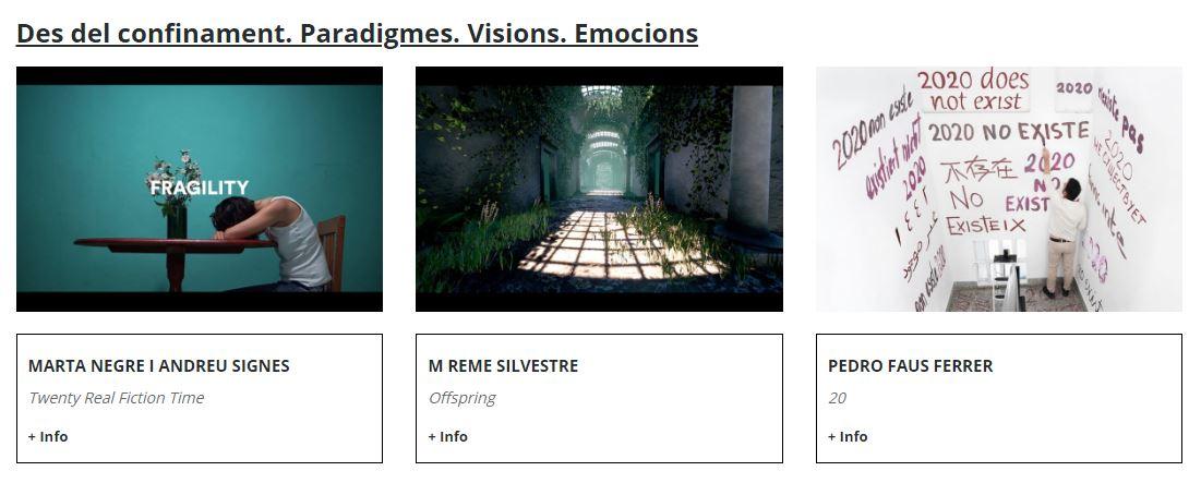 Fragmento de la web de la exposición Cultura Online