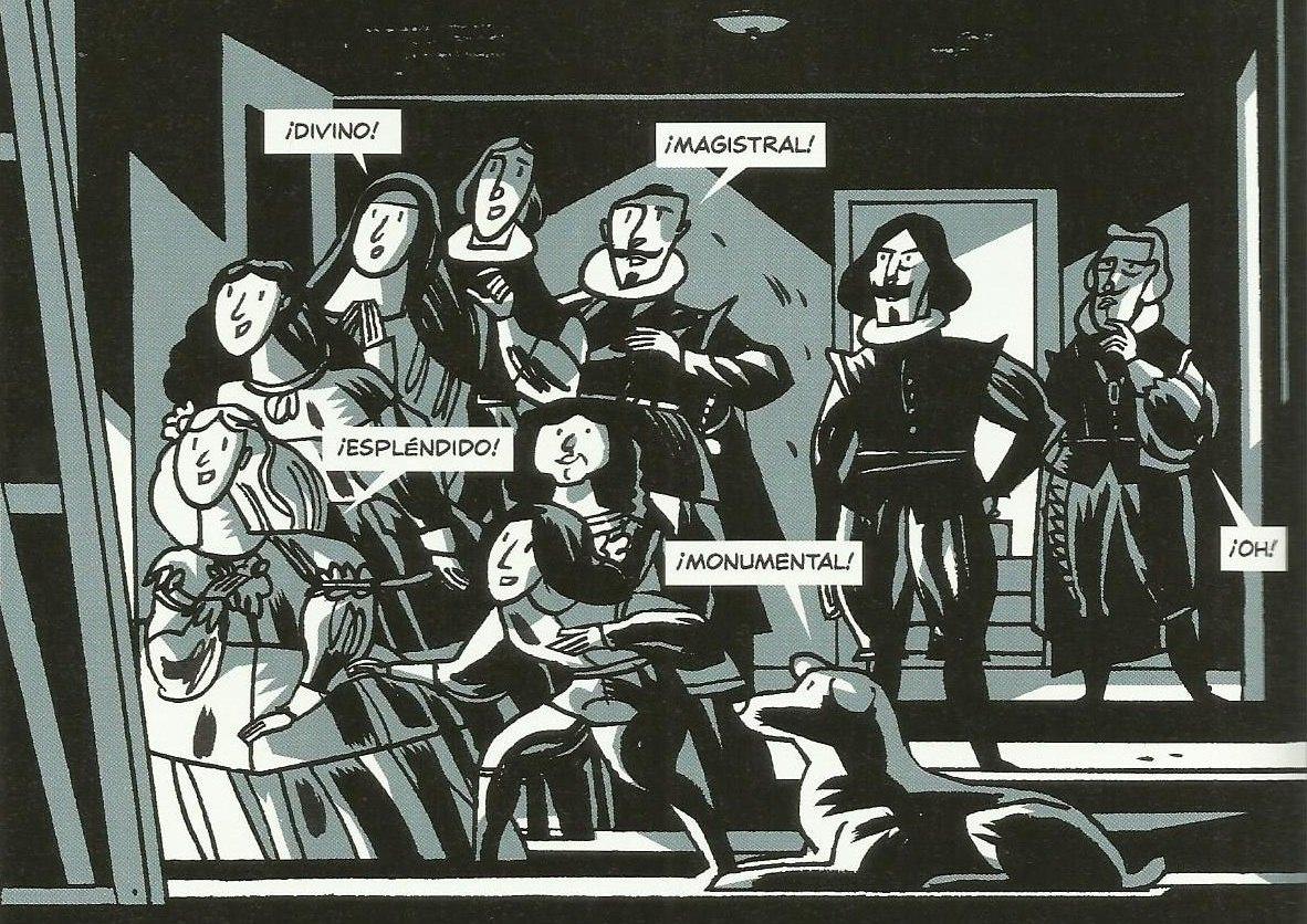 Las Meninas cómic de Olivares y García