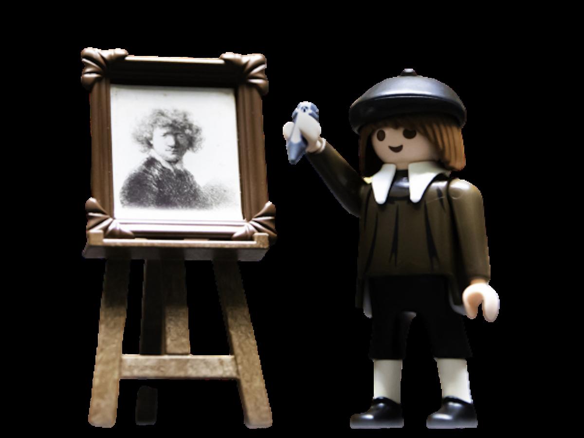 Playmobil de Rembrandt en el Rijksmuseum