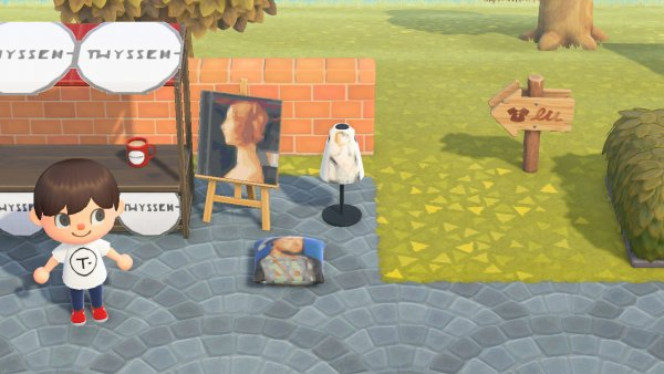 Museo Thyssen en Animal Crossing