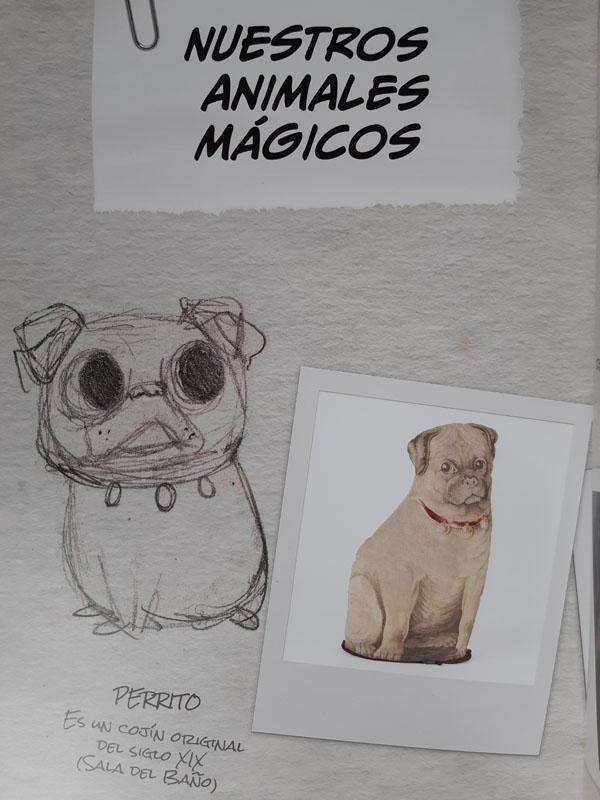 Animales del cómic Aventura en el Museo Cerralbo