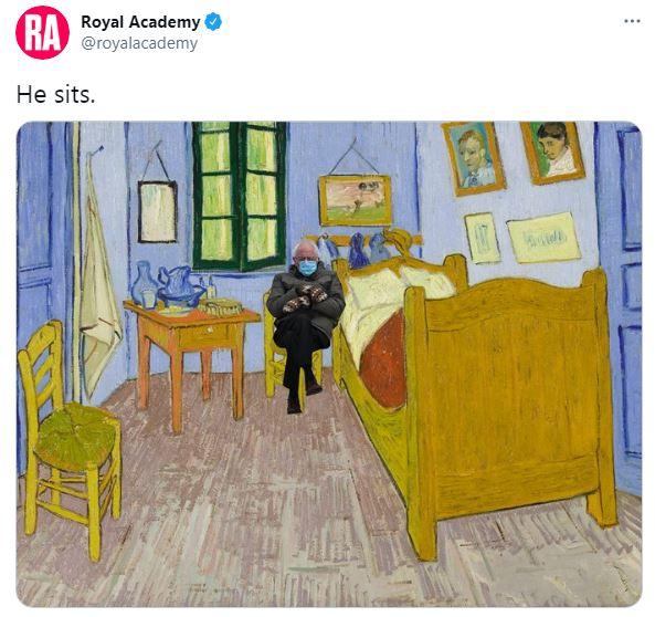 Bernie Sanders meme Royal Academy