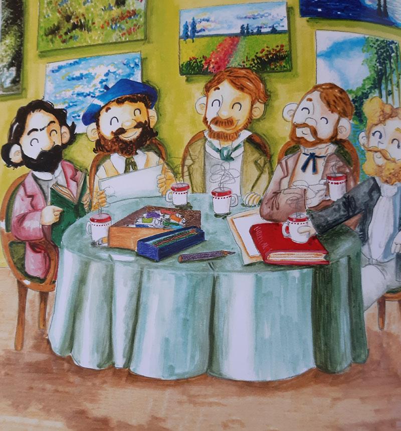 Artistas del Impresionismo ilustración