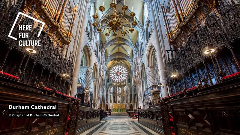 Fondo videollamada de la Catedral de Durham