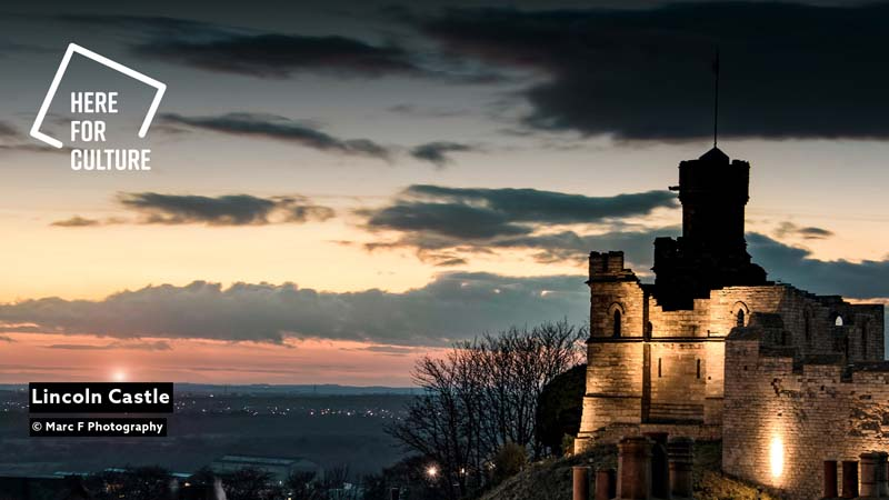 Fondo videollamada del Castillo de Lincoln