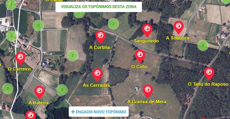 Galicia Nomeada Mapa Real Academia Galega