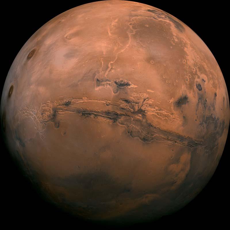 Marte CCCB Exposición Nasa Vista Viking Orbiter