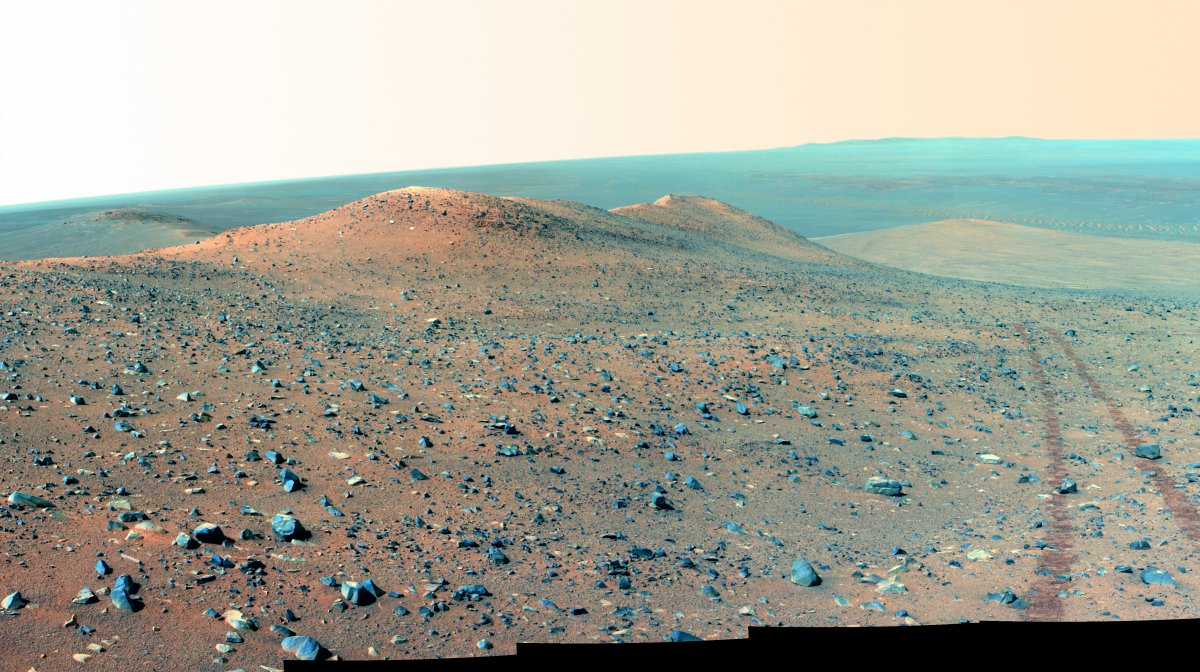 Montaña Wdowiak Rover Opportunity NASA