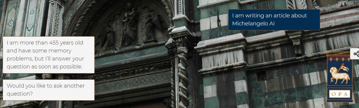 Miguel Ángel Inteligencia Artificial Arte Florencia Duomo