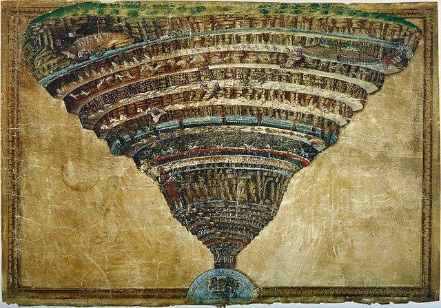 Sandro Botticelli La voragine infernale Dante