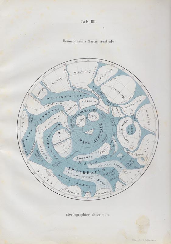 Giovanni Schiaparelli. Hemisferio austral de Marte Marte CCCB