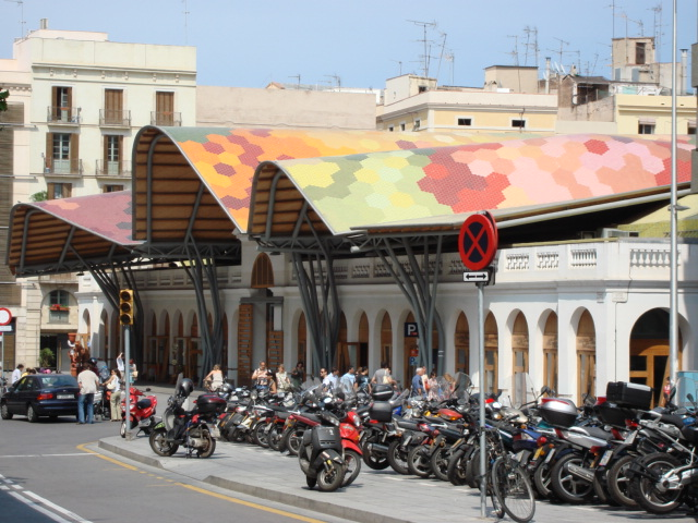 Mercado de Santa Caterina arquitectura de Enric Miralles