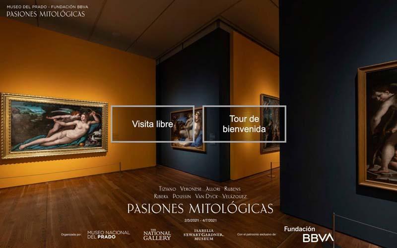 Visita virtual Museo del Prado Exposición Pasiones Mitológicas