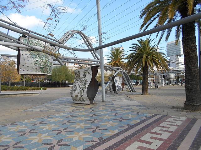 Parque Diagonal Mar Barcelona EMBT Enric MIralles Benedetta Tagliabue