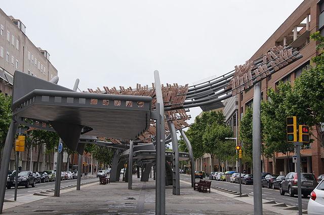 Pérgolas Avenida de Icaria Barcelona Enric Miralles