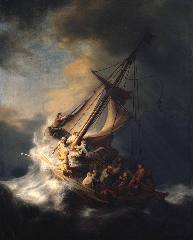 Tempestad en el mar de Galilea de Rembrandt Gardner Museum Boston