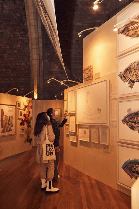 Exposición de Enric Miralles en el Salón del Tinell de Barcelona