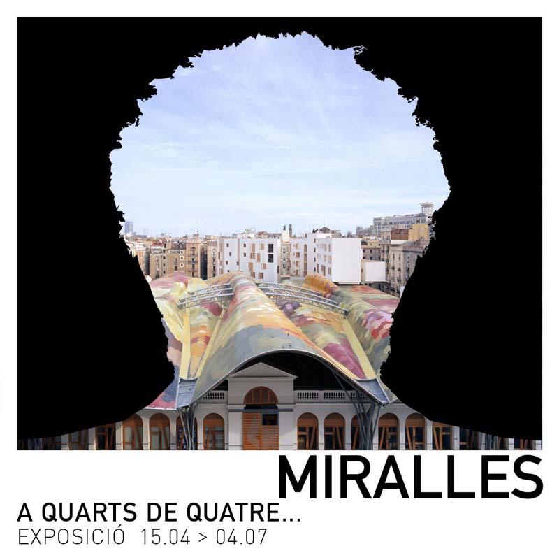 Exposición de Enric Miralles. A quarts de quatre en Barcelona