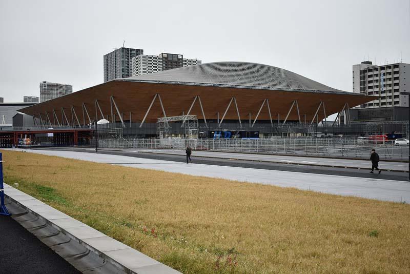Centro de Gimnasia de Ariake arquitectura de los juegos olímpicos de Tokyo 2020